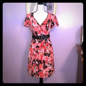 NWOT-Beautiful Wrapper Belted Dress